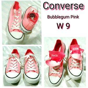 Rare Converse double tongue Bubblegum Pink W 9